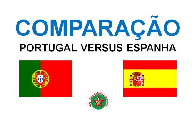 COMPARAÇÃO PORTUGAL VERSUS ESPANHA